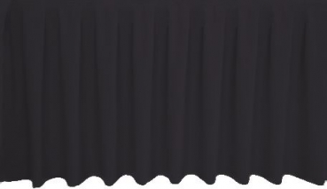 Skirting Kellerfalte - black