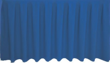 Skirting Kellerfalte - corn blue