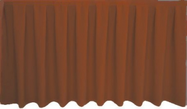Skirting Kellerfalte - rust brown