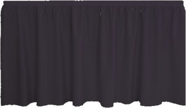 Skirting Plissee - black