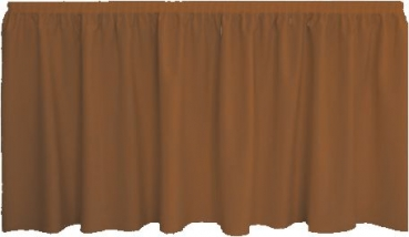 Skirting Plissee - rust brown