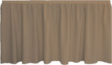 Skirting Plissee - taupe